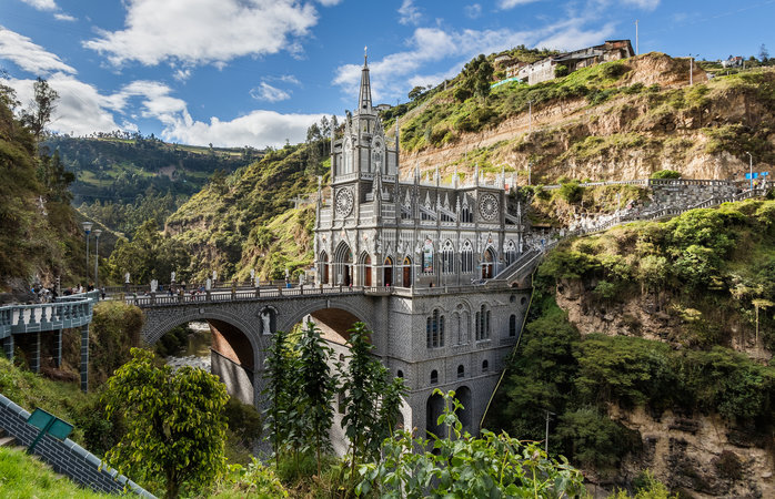 Geweldige bestemmingen in Zuid-Amerika - Las Lajas Heiligdom, Columbia