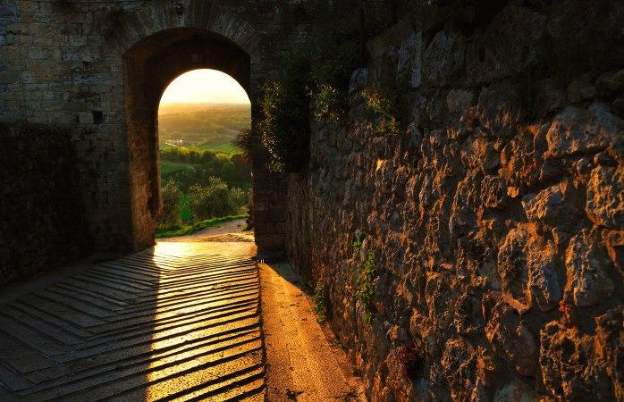 Het perfecte plaatje, de middeleeuwse stad Monteriggioni
