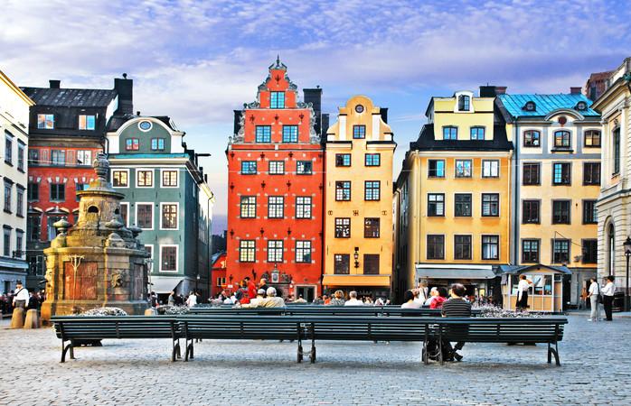 Gamla Stan is een van de grootste en best bewaarde middeleeuwse stadscentra van Europa