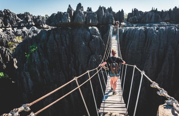 Stéphanie tijdens haar rondreis in Madagascar, Afrika