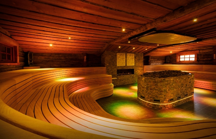 De Kelo Aufguss Sauna is een van de grootste opgietsauna's in Nederland.