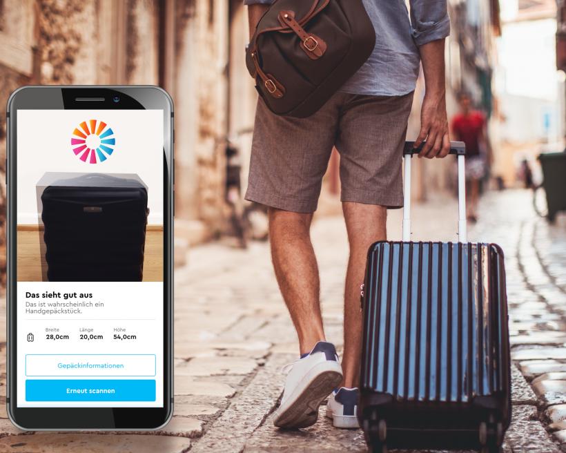 Nooit meer te grote handbagage met de Handbagage-scanner