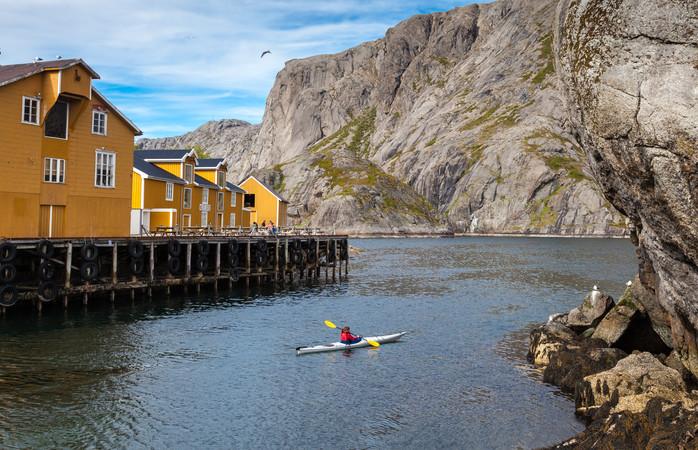 Op de Lofoten (Noorwegen) schijnt de zon dag en nacht in de zomer.