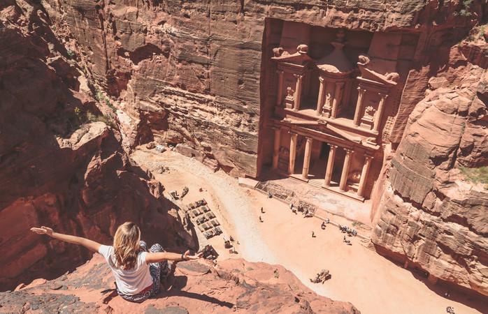 Bezoek in Jordanië één van de nieuwe 7 wereldwonderen, genaamd Ad Deir.