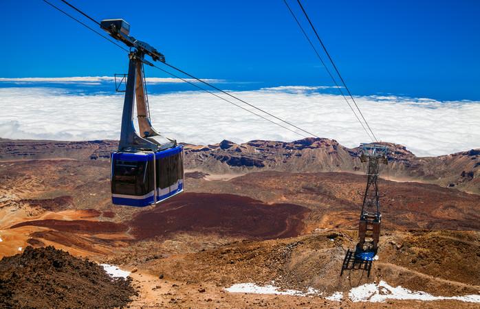 De El Teide kabelbaan in Tenerife is een perfecte activiteit om het vulkaanachtige landschap te bewonderen.