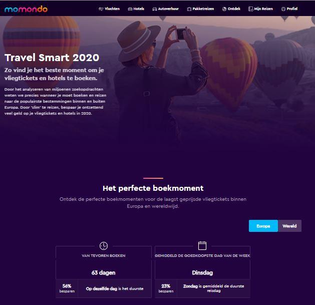 Travel Smart van momondo
