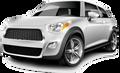 Klein auto in Oranjestad